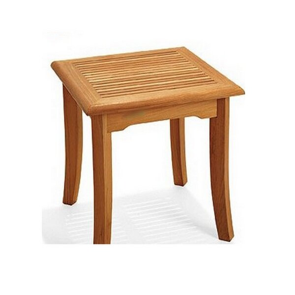 Maday Grade A Square Teak Side Table by Highland Dunes