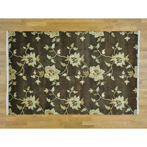One-of-a-Kind Beverly Hand-Knotted Brown Wool Area Rug by Isabelline