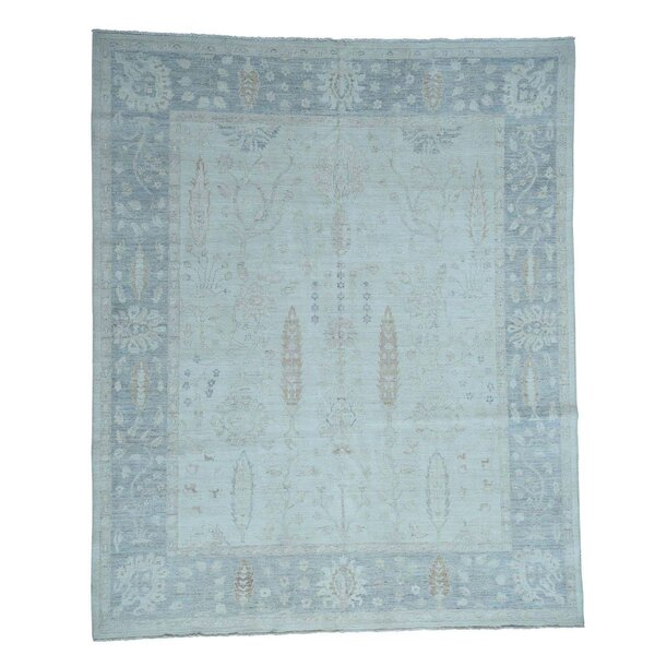 One-of-a-Kind Bagby Oriental Hand-Knotted Wool Ivory Area Rug by Isabelline