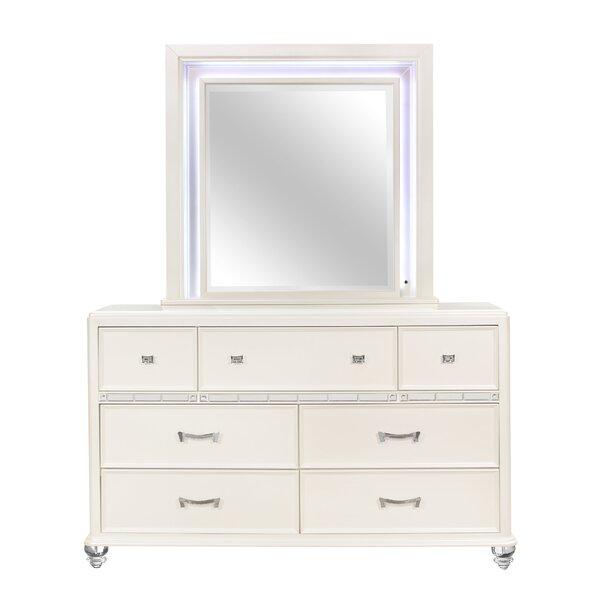 Farrer 7 Drawer Dresser with Mirror by Everly Quinn