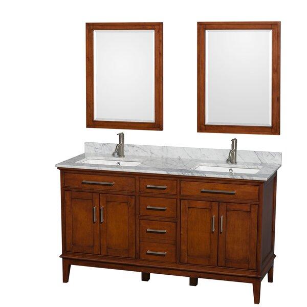 Hatton 60 Double Bathroom Vanity Set with Mirror