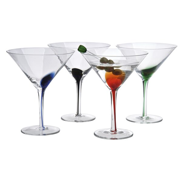 Rosenberry Splash Martini 12 oz. Cocktail Glass by Ebern Designs