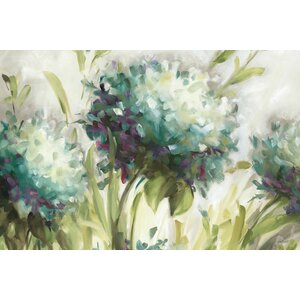 Hydrangea Field' by Lisa Audit painting on Wrapped Canvas by East Urban Home