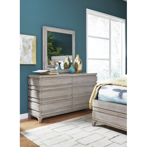 Pacifica 6 Drawer Double Dresser with Mirror by Gracie Oaks