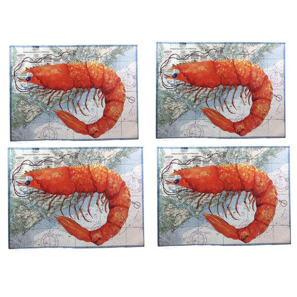 Widman Shrimp on Charleston 16 Placemats (Set of 4) by Breakwater Bay