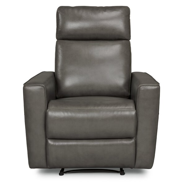 Pell Leather Power Recliner by Latitude Run