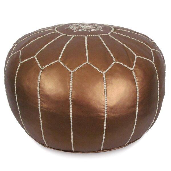Stupendous Dark Brown Leather Ottoman Wayfair Squirreltailoven Fun Painted Chair Ideas Images Squirreltailovenorg