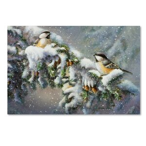 'Winter Companions' Print on Wrapped Canvas by Trademark Fine Art