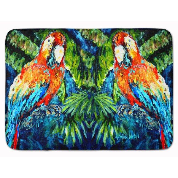Parrot Yo Yo Mama Rectangle Microfiber Non-Slip Bath Rug