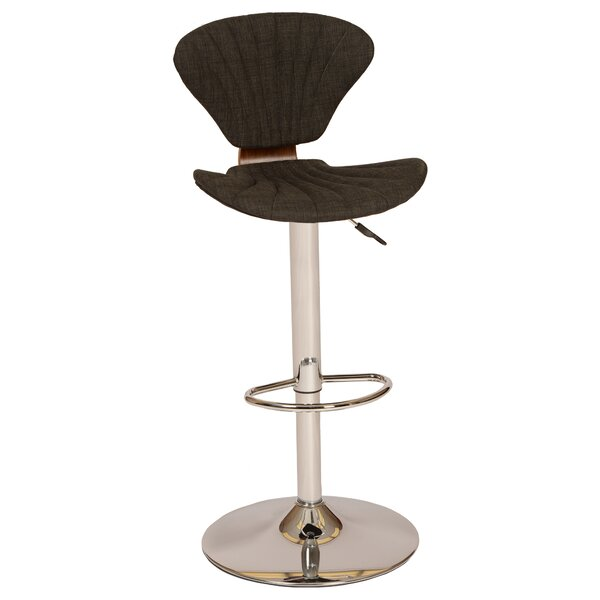 Tortola Adjustable Height Swivel Bar Stool by Wade Logan