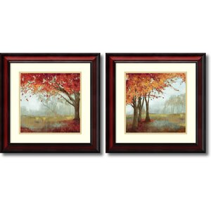 'A Sense of Space' 2 Piece Framed Painting Print Set by Three Posts