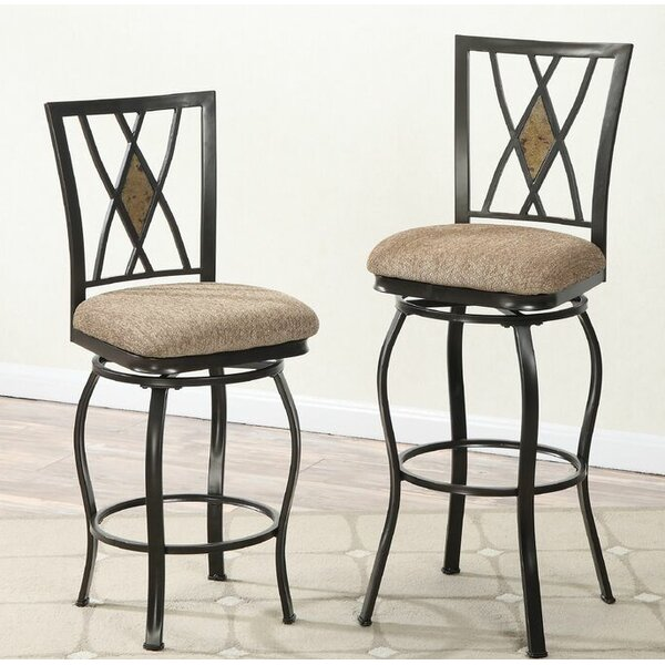 Tupper 29 Swivel Bar Stool (Set of 2) by Red Barrel Studio