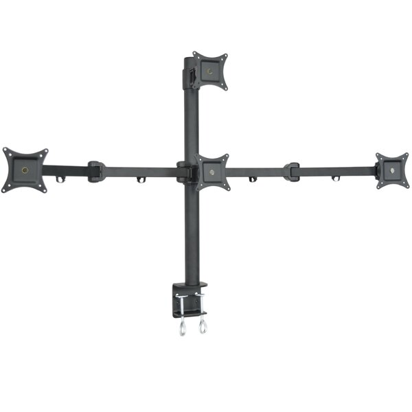 Quad LCD 4 Screen Heavy Duty Stand Monitor Mount by Vivo