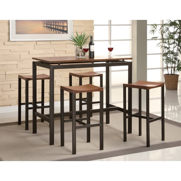 Bywood 5 Piece Counter Height Dining Set by Ebern Designs Ebern Designs