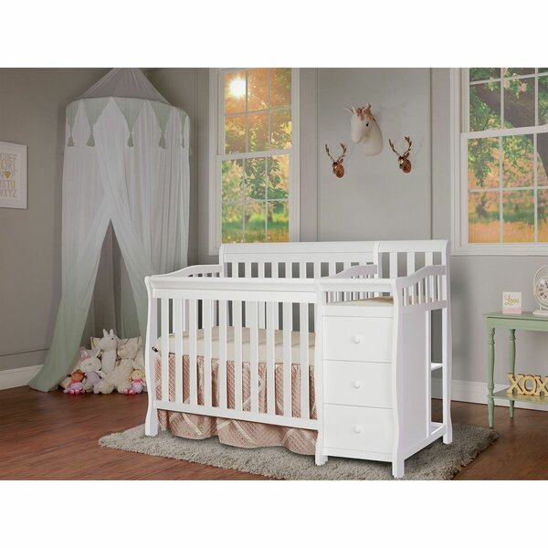 Jayden 4-in-1 Convertible Mini Crib and Changer Combo by Dream On Me