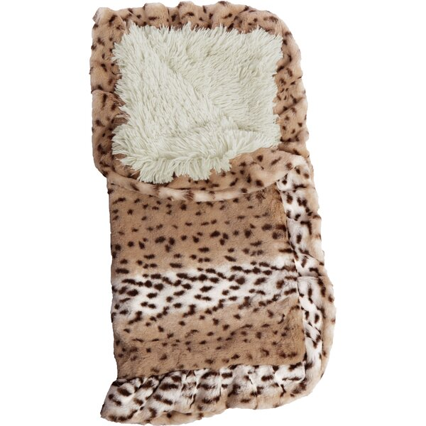 Blanket Aspen Snow Leopard Hooded Dog Bed by Bessie and Barnie