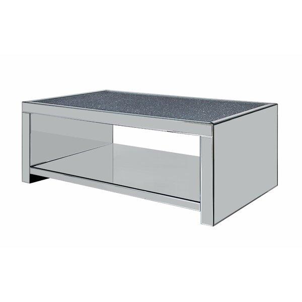 Chokio Floor Shelf Coffee Table by Everly Quinn Everly Quinn