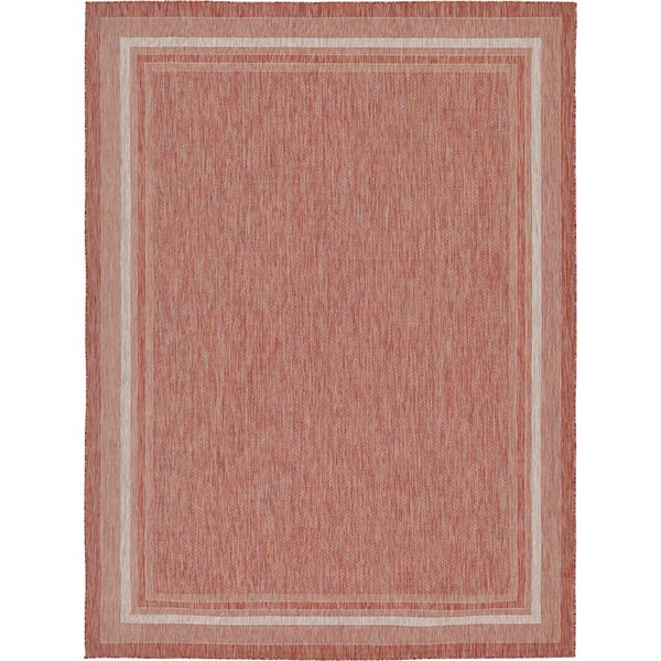 Veranda Power Loom Brick Rug