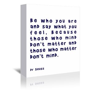 'Dr Seuss Quote Navy' by Indigo Sage Textual Art on Wrapped Canvas by East Urban Home