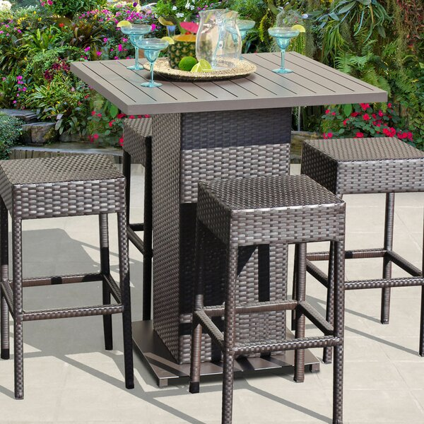 Camak 5 Piece Pub Table Set by Rosecliff Heights