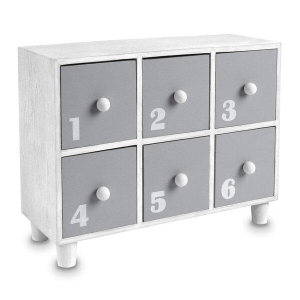 Fennimore Wooden Desktop Office Supplies Storage Organizer 6 Drawer Accent Chest by Ebern Designs Ebern Designs
