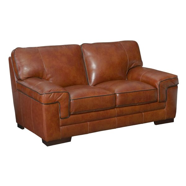 Grand Isle Leather Loveseat by Trent Austin Design Trent Austin Design