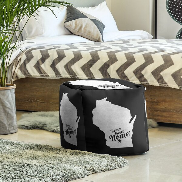 Home Sweet Madison Cube Ottoman By East Urban Home