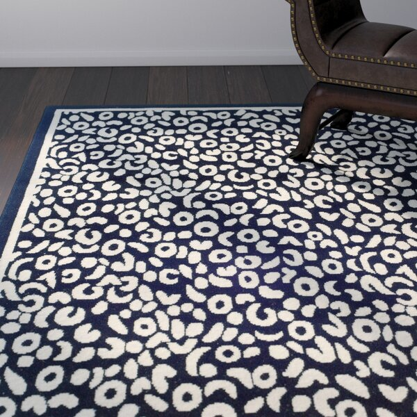 Norton Black/Ivory Area Rug by World Menagerie