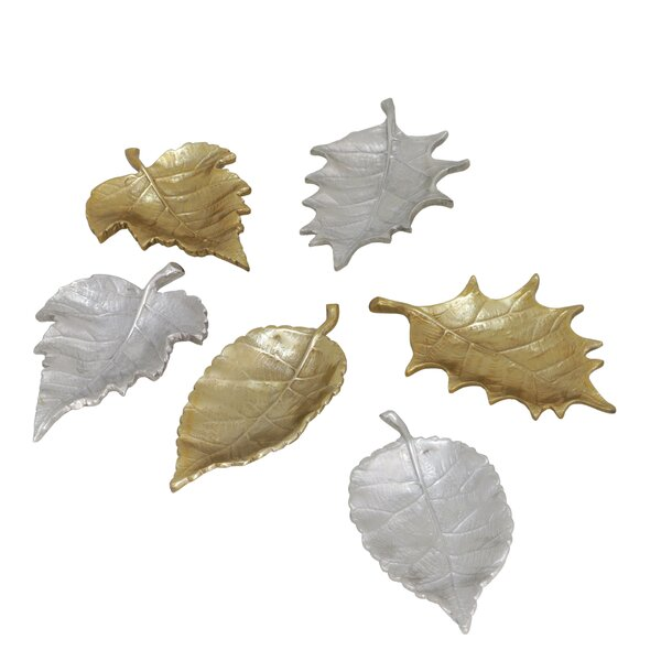 Theis Leaves 6 Piece Sculpture Set by Millwood Pines