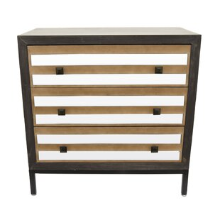 Peckham Wood Mirror 3 Drawer Accent Chest By Union Rustic