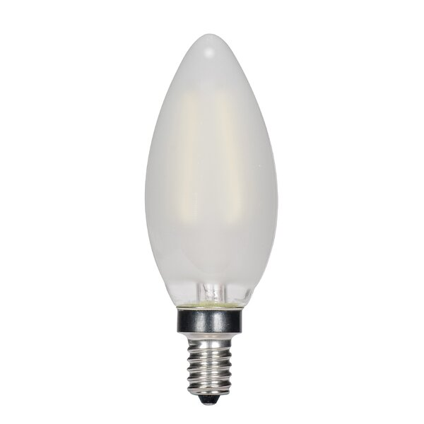 4W Frosted E12 Candelabra LED Vintage Filament Lamp 2700K by Satco