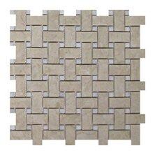 Olympos Basketweave 1 x 2 Marble Mosaic Tile in Beige