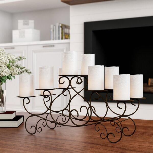 Candle Swirl Metal Candelabra by Fleur De Lis Living