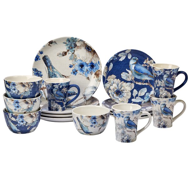 Lindholm 16 Piece Dinnerware Set, Service for 4 by Darby Home Co