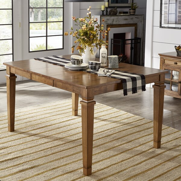Terrones Overall Height Solid Oak Dining Table By Charlton Home®