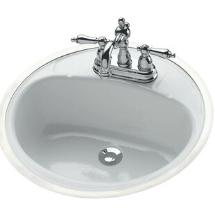 Affordable Circular Drop-In Bathroom Sink with Overflow By Bootz