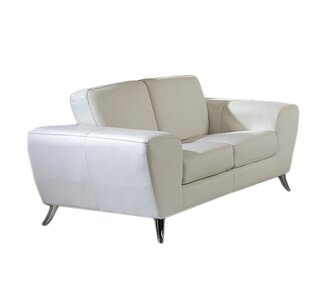 Alonso Leather Loveseat by Wade Logan SKU:CA327141 Guide