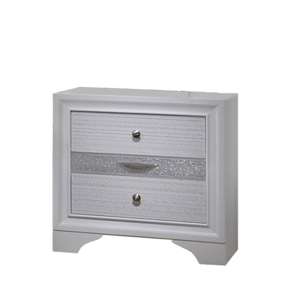 Smyth 2 Drawer Nightstand by House of Hampton