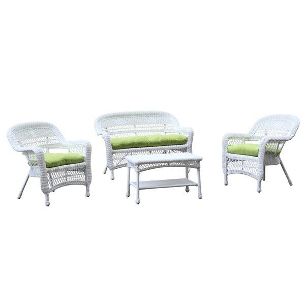 Portside 4 Piece Sofa Set with Cushions by Fine Mod Imports