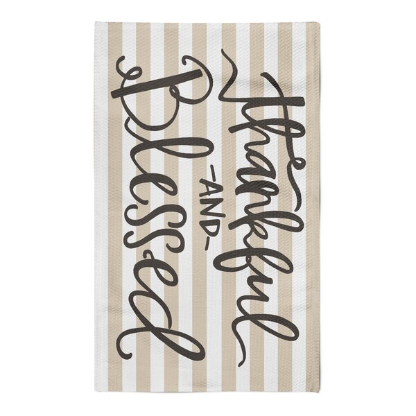 Payden Thankful and Blessed Tan/White Area Rug by Gracie Oaks