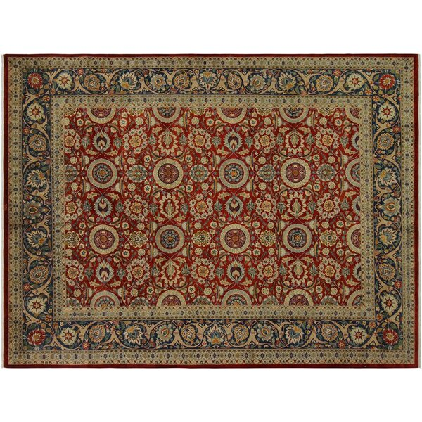Weatherwax Hand-Knotted Wool Red/Blue Area Rug