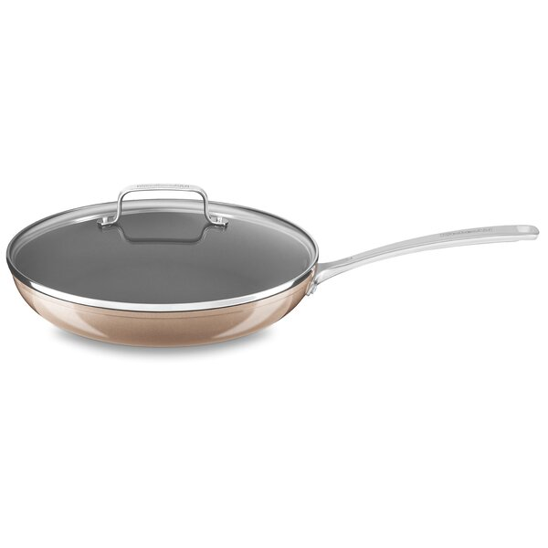 Stainless Steel 12 Non-Stick Skillet with Lid by K