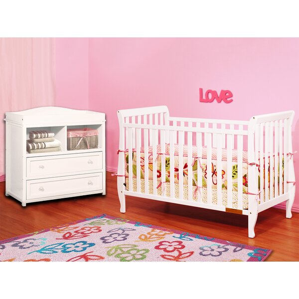 Naomi 4-in-1 Convertible 2 Piece Crib Set by AFG Baby Furniture