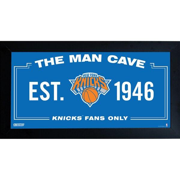 NBA Framed Man Cave Sign Memorabilia by Steiner Sp