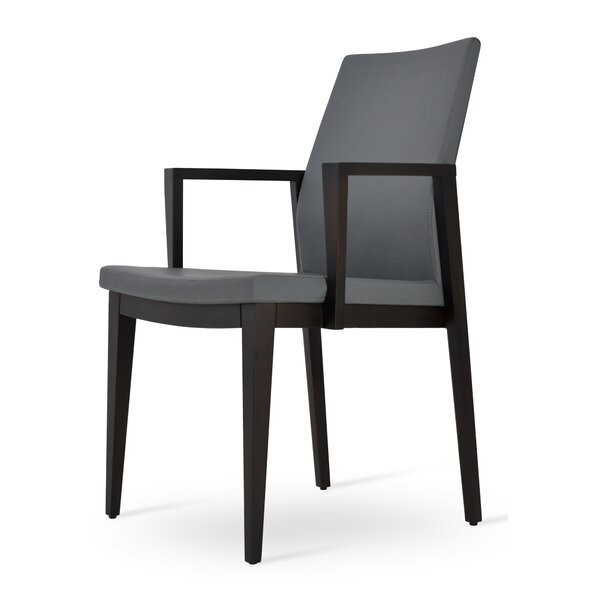 Pasha Wood Genuine Leather Upholstered Dining Chair by sohoConcept