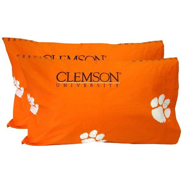 Collegiate NCAA Clemson Tigers Pillowcase (Set of 2) by College Covers
