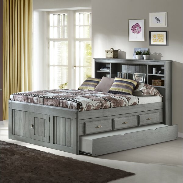 Ercole Full Mates & Captains Bed with Drawers and Trundle by Birch Lane™ Heritage