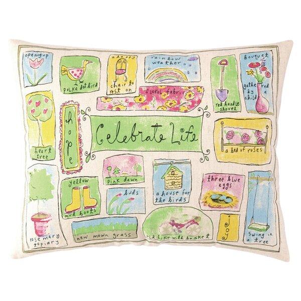 Celebrate Life Lumbar Pillow by Peking Handicraft