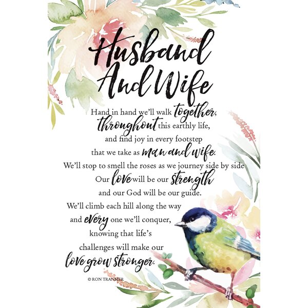 Woodland Grace Husband And Wife Textual Art on Wood by Dexsa