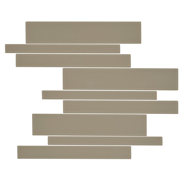 Linear Glass 10.5 x 18.8 Glass Tile in 7 Color Blend by Kellani